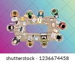 flat design illustration... | Shutterstock .eps vector #1236674458