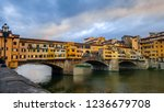 the ponte vecchio is a medieval ... | Shutterstock . vector #1236679708