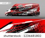 cargo van decal design vector.... | Shutterstock .eps vector #1236681802