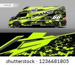 cargo van decal design vector.... | Shutterstock .eps vector #1236681805