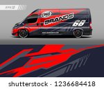 cargo van decal design vector.... | Shutterstock .eps vector #1236684418