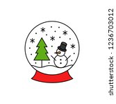 christmas  winter snow globe... | Shutterstock .eps vector #1236703012
