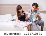 caring husband looking after...   Shutterstock . vector #1236710572