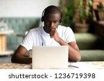 focused african american man... | Shutterstock . vector #1236719398