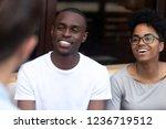 happy african american couple... | Shutterstock . vector #1236719512