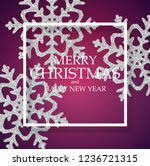 abstract holiday new year and... | Shutterstock .eps vector #1236721315