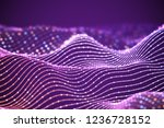 3d sound waves with colored... | Shutterstock .eps vector #1236728152