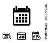 calendar icon vector  date...   Shutterstock .eps vector #1236729382