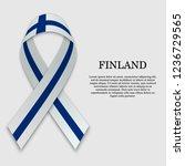 flag of finland on stripe... | Shutterstock .eps vector #1236729565