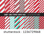 christmas candy cane stripes... | Shutterstock .eps vector #1236729868