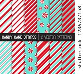 candy cane stripes and... | Shutterstock .eps vector #1236737158