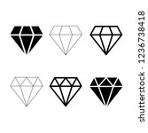 diamond icon vector  brilliant... | Shutterstock .eps vector #1236738418