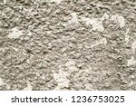 cracked grey paint on the wall... | Shutterstock . vector #1236753025