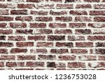 old red brick wall background... | Shutterstock . vector #1236753028