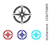 compass icon vector | Shutterstock .eps vector #1236753805
