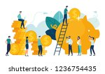 vector flat illustration  a... | Shutterstock .eps vector #1236754435