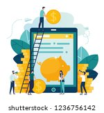 vector illustration on white... | Shutterstock .eps vector #1236756142