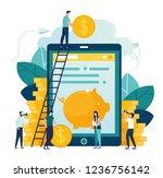 vector illustration on white... | Shutterstock .eps vector #1236756142
