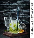 lemonade with menthol and lime. ... | Shutterstock . vector #1236756178