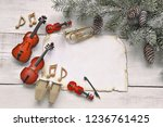 christmas tree branch with...   Shutterstock . vector #1236761425