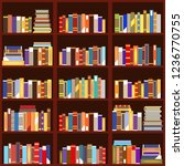 bookshelf seamless pattern flat ...   Shutterstock .eps vector #1236770755