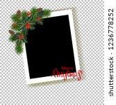 christmas photo frame. template ...   Shutterstock .eps vector #1236778252