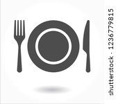 plate icon vector. fork and... | Shutterstock .eps vector #1236779815