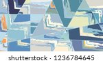 abstract collage asymmetric... | Shutterstock .eps vector #1236784645