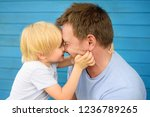 little baby embrace his father. ... | Shutterstock . vector #1236789265