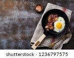 traditional english breakfast...   Shutterstock . vector #1236797575