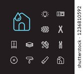housekeeping icons set. clean...