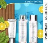 lemon cosmetic. best product... | Shutterstock .eps vector #1236811378