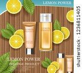 lemon cosmetic. best product... | Shutterstock .eps vector #1236811405