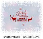merry christmas and new year...   Shutterstock .eps vector #1236818698