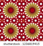 seamless pattern in authentic...   Shutterstock .eps vector #1236819415