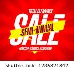 semi annual sale banner  total... | Shutterstock . vector #1236821842