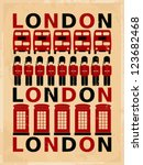 Retro Style Poster With London...