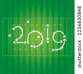 new year 2019 american football ... | Shutterstock .eps vector #1236830848