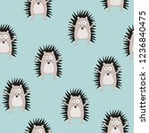 seamless pattern with cute... | Shutterstock .eps vector #1236840475