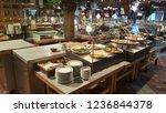 beautiful restaurant with fine... | Shutterstock . vector #1236844378