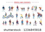 set of colorful animals being... | Shutterstock .eps vector #1236845818