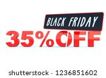black friday 35 percent off... | Shutterstock . vector #1236851602