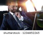 businessman reads information... | Shutterstock . vector #1236852265