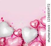 air balloons of heart shaped... | Shutterstock . vector #1236853972