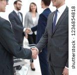 handshake of business partners...   Shutterstock . vector #1236854818