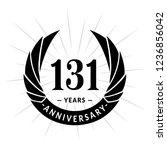 131 years anniversary. elegant... | Shutterstock .eps vector #1236856042
