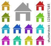 home house icon in multi color. ...
