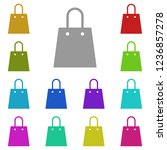 shopping bag icon in multi...