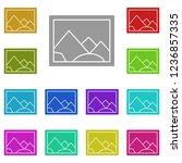 picture icon in multi color....