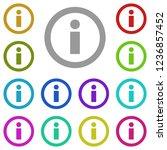 information icon in multi color....